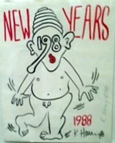 Keith Haring, 'NEW YEAR 1988', 1988