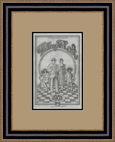 "David Edward Byrd, '""The Original Fillmore East pencil drawing for the 1971 Program ""', 1971"