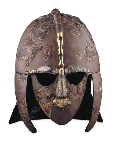 'Sutton Hoo ship-burial helmet', Early 7th century