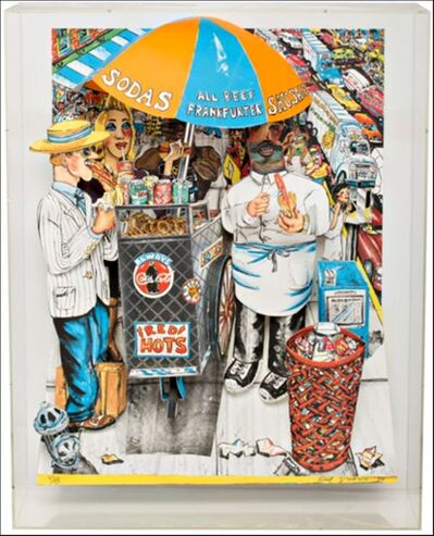 Red Grooms, 'Hot Dog Vendor', 1994