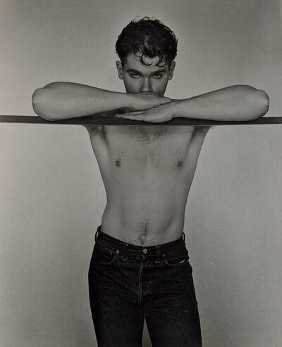 George Platt Lynes, 'Nino Sansone at Bar', 1950
