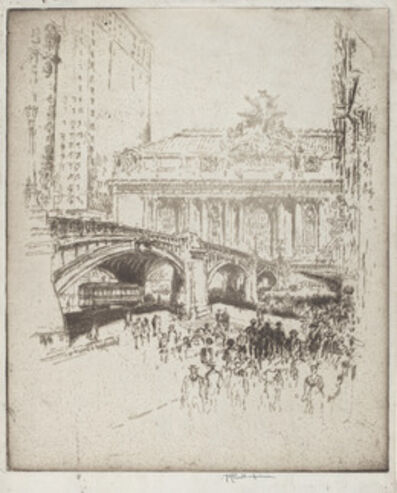 Joseph Pennell, 'The Approach to the Grand Central, New York', 1919
