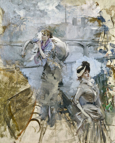 Giovanni Boldini, 'PARIS TYPES: A STUDY OF TWO WOMEN', ca. 1878