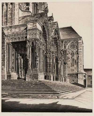John Taylor Arms, 'In Memorium, alternatively titled The North Portal of Chartres Cathedral', 1939