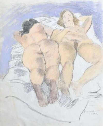 Raphael Soyer, 'Two Reclining Nudes', ca. 1987
