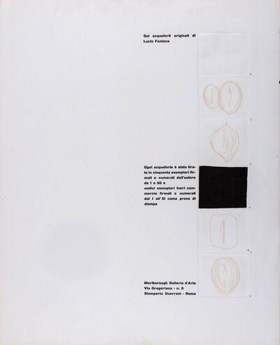 Lucio Fontana, 'Frontespizio della cartella Marlborough 2RC', 1964