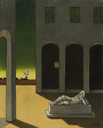 Giorgio de Chirico, 'Piazza d'Italia con Arianna', ca. 1970