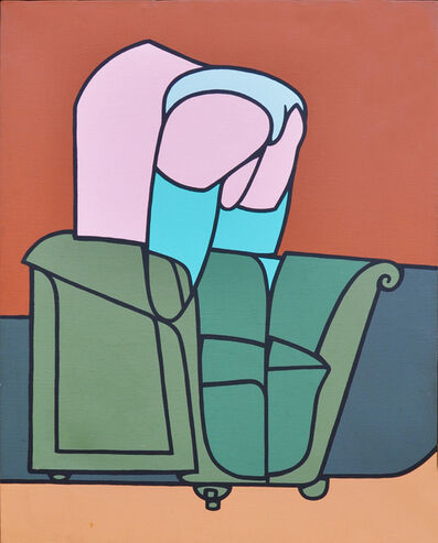 Valerio Adami, 'Figura in Casa, 1970-1971', 1971