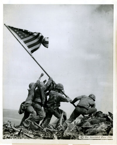 Joe Rosenthall, 'Raising the Flag on Iwo Jima', printed 1945