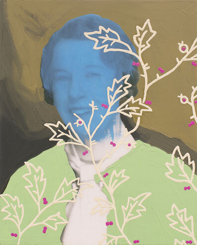 Daisy Patton, 'Untitled (Woman with Cream Vines and Pink Dots)', 2018