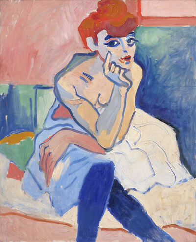 André Derain, 'Woman in a Chemise', 1906