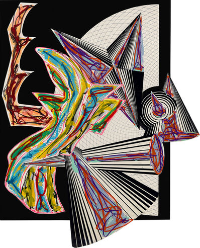 Frank Stella, 'Then Came Death and Took the Butcher, from Illustrations after El Lissitzky's Had Gadya', 1984