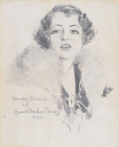 Howard Chandler Christy, 'Portrait of Broadway Star Dorothy Dionne', 1933