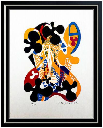 Françoise Gilot, 'Francoise Gilot Color Lithograph Hand Signed Sur La Pierre Nude Female Abstract', 1972