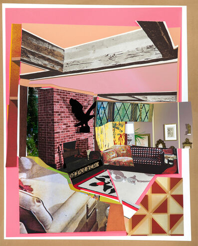 Mickalene Thomas, 'Interior: Fireplace with Blackbird', 2016