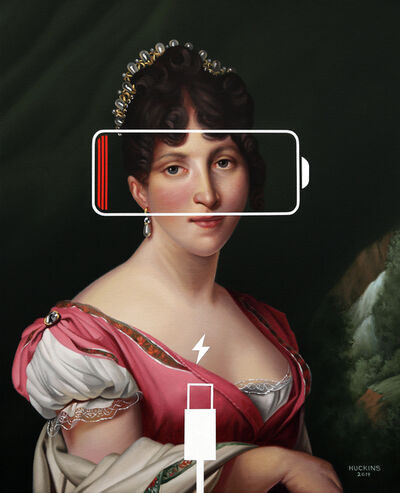 Shawn Huckins, 'Hortense de Beauharnais, Panic Eight (Charging Battery)', 2019