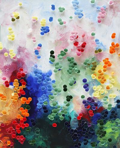 Larisa Safaryan, ''Creation II' Colorful Mixed Media Painting', 2021