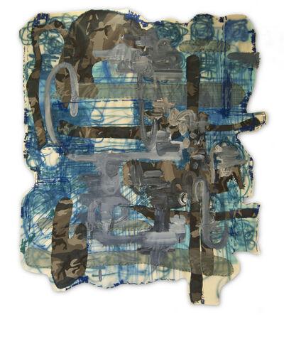 Alfredo Martinez, 'Blue Camouflage ', 2014