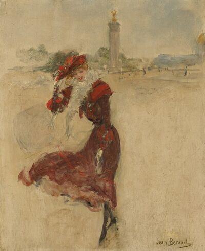 Jean Béraud, 'Parisienne in a Red Dress', ca. 1900