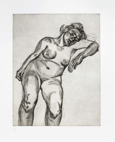 Lucian Freud, 'Blonde Girl', 1986