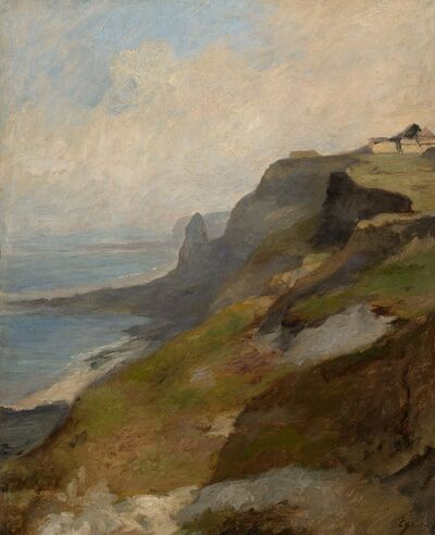 Eugène Isabey, 'Cliffs of Normandy', ca. 1850