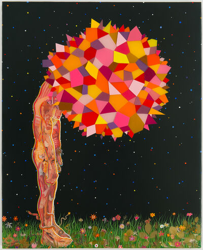 Fred Tomaselli, 'Study for Head', 2013