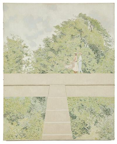 David Byrd, 'Walkers on Bridge', 1969