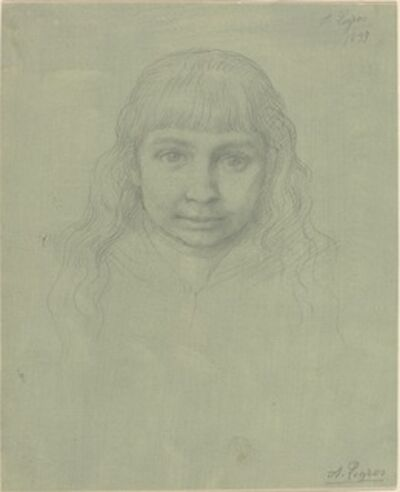 Alphonse Legros, 'Head of a Child', 1893