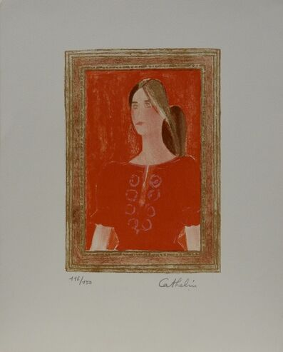 Bernard Cathelin, 'Dominique a la blouse Hongroise', 1976