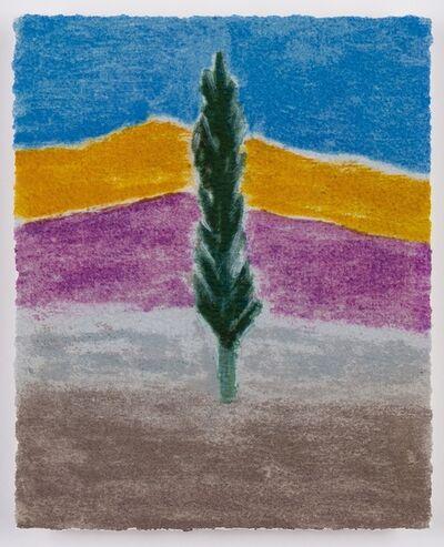 Craigie Aitchison, 'Cypress Tree Montecastelli', 2004