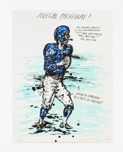 Raymond Pettibon, 'No Title (Illegal procedure! The...)', 2000
