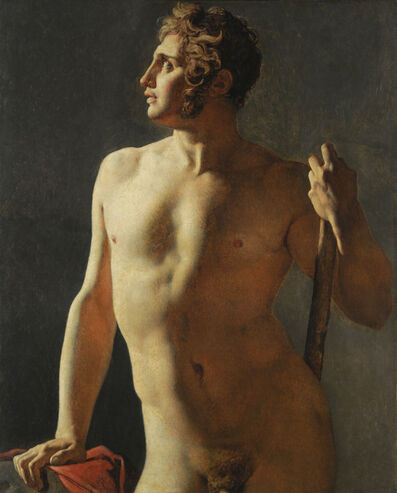 Jean-Auguste-Dominique Ingres, 'Torso (Painted Half-Figure)', 1800
