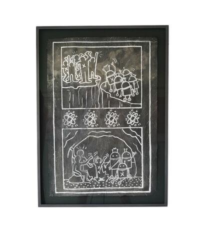 """Keith Haring, 'Untitled NYC Subway Drawing """"Robots""""', 1980-1985"""