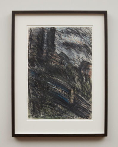 Leon Kossoff, 'Train by Night No.1', 1990