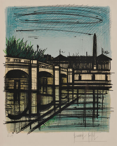 Bernard Buffet, 'Le pont de la Concorde', 1968