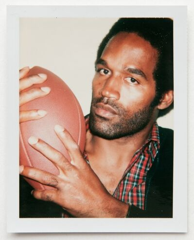 Andy Warhol, 'Andy Warhol, Polaroid Photograph of OJ Simpson Holding a Football, 1977', 1977