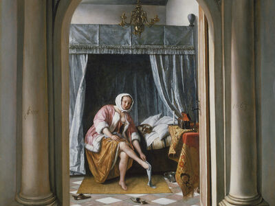 Jan Steen, 'A Woman at her Toilet', 1663