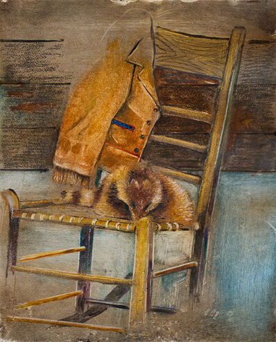 Francis Wishart, 'Raccoon Hat on Chair', 2017