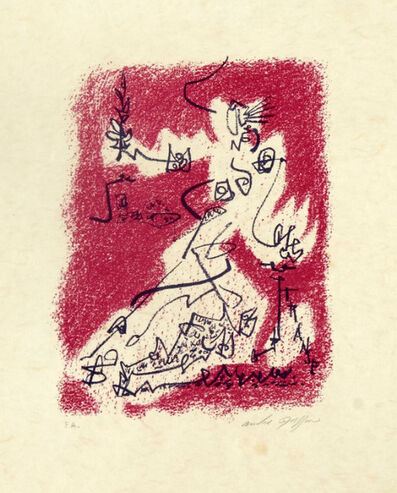 André Masson, 'Le départ from the book 'Souvenirs d'artistes' (Signed)', 1954