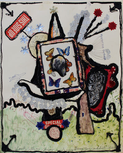 Isaiah Zagar, 'Black, Silver, Snow, and Anything You Couldn't Use', 1976
