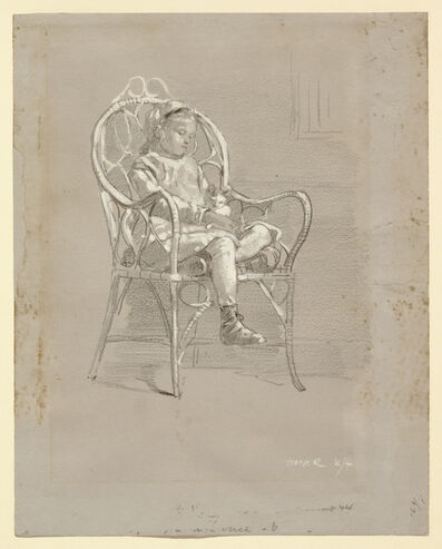 Winslow Homer, 'Child Seated in a Wicker Chair', 1874