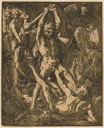 Hendrik Goltzius, 'Hercules Killing Cacus', 1588