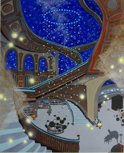 "Michiko Itatani, '""Blackbox"" painting from Celestial Narratives 17-B-6', 2017"