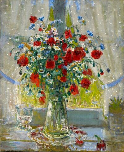 Pierre Montézin, 'Bouquet de fleurs champêtres et coquelicots devant la fenêtre', 1940-1945