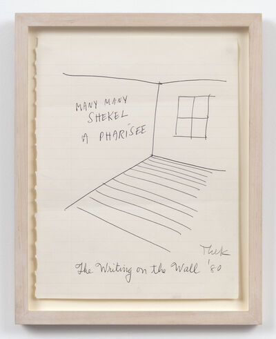 Paul Thek, 'The Writing on the Wall', 1980