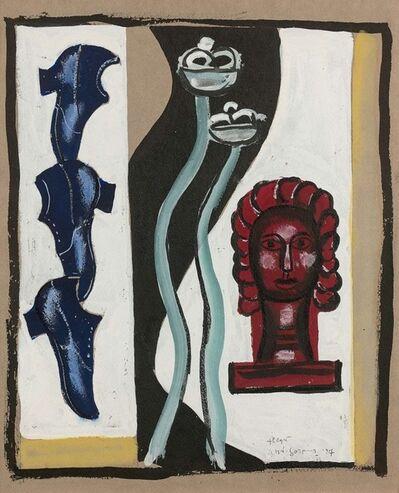 Fernand Léger, 'Etude de la composition à la tête rouge', 1927