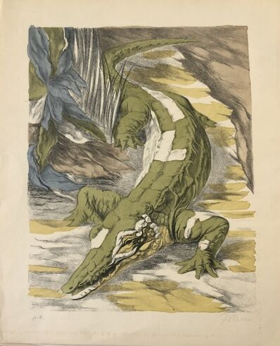 Fabrizio Clerici, 'Creek and Crocodile', ca. 1970