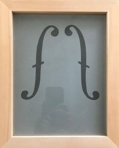Suzan Etkin, 'Acid etched Music Note Clef Glass Wall Sculpture Artwork Framed ed. 25 Signed', 1980-1989