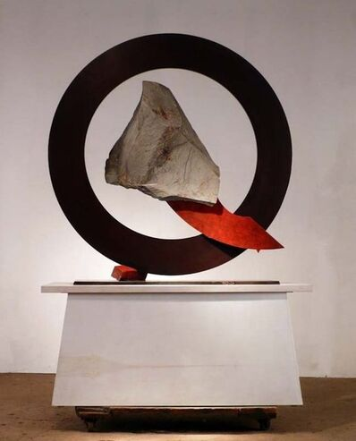 John Van Alstine, 'Sisyphean Circle Diagonally Down'