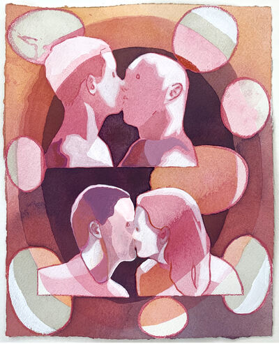 Dan Gluibizzi, '2 kisses 8 ovals', 2019